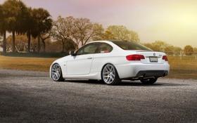 Обои BMW, БМВ, white, Car, 335i, E92