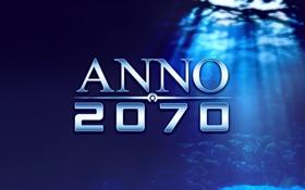 Картинка под водой, синий фон, anno2070
