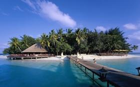 Обои остров, maldives, хотел