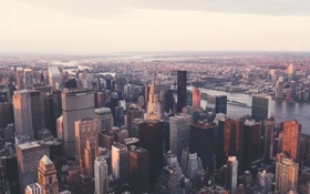 Картинка city, город, здания, небоскребы, вид сверху