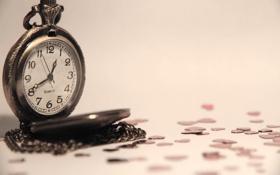 Картинка часы, стрелки, цифры, макро, 1920x1080