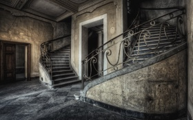 Картинка фон, лестница, стены