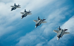 Картинка Lightning II, F-35A, полет, истребители