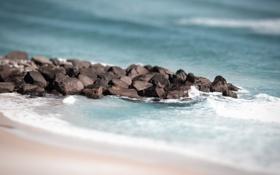 Обои песок, прибой, пляж, 1920x1200