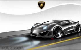 Обои фон, значок, арт, концепт, Lamborghini PAZZO