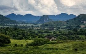 Картинка фото, Природа, Горы, Поля, Пейзаж, Cuba, Vinales