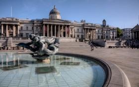 Обои фонтан, Трафальгарская площадь, Лондон, Англия
