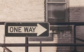 Картинка знак, табличка, указатель, one way
