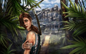 Обои взгляд, Tomb Raider, девушкагород