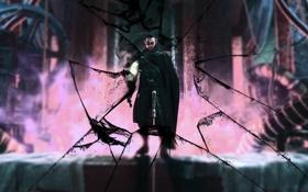 Картинка стекло, Бэтмен, Batman, Batman Arkham City
