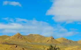 Обои небо, облака, пейзаж, горы