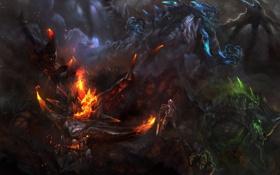 Обои дракон, dota 2, Chaos Knight, moba, harbinger
