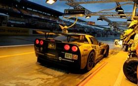 Обои 24 hours of Le Mans, CorvetteC6R WIDE, John Brooks