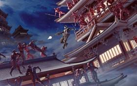 Обои оружие, япония, арт, ниндзя, выстрелы, G.I. Joe: Бросок кобры 2, Snake Eyes