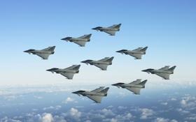 Обои истребители, Тайфун, Typhoon, Eurofighter