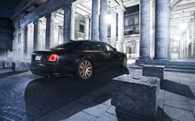 Обои 2015, Ghost, Rolls-Royce, Spofec Black One, роллс-ройс