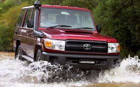 Обои красный, Вода, Япония, Обои, Брызги, Toyota, Car