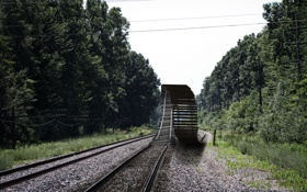 Обои рельсы, ситуация, железная дорога