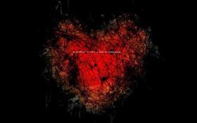 Обои надпись, любовь, чувство, love, сердце, темный фон, предательство