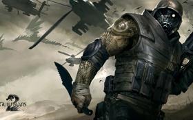 Обои оружие, вертолеты, драконы, воин, Guild Wars 2