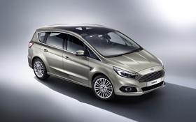 Обои фото, Ford, серебристый, Форд, автомобиль, 2015, S-Max
