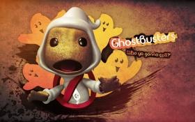 Обои креатив, призраки, ghostbusters, little big planet