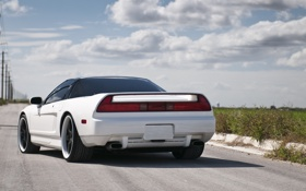 Картинка белая, white, задняя часть, акура, Acura, NSX
