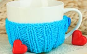 Картинка любовь, чай, сердце, кофе, чашка, blue, cup