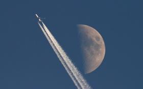 Обои Aircraft, Moon, Jet