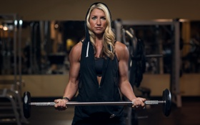 Картинка девушка, тренировка, спорт