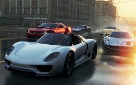 Обои улица, гонка, McLaren, Porsche, Chevrolet, тачки, Lotus