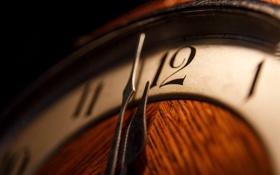 Обои макро, время, часы