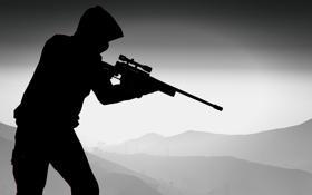 Обои мужчина, снайперская винтовка, gta, Grand Theft Auto