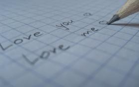 Обои Любовь, надпись, слова