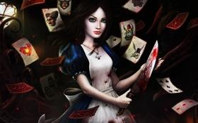 Картинка Карты, Нож, Алиса, Madness Returns, Alise