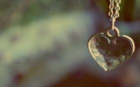 Обои сердце, кулон, украшение, подвеска