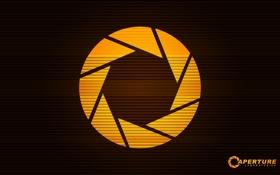 Обои логотип, Half-Life, круг, aperture science, компания, портал, наука