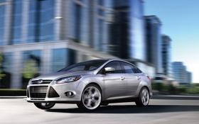 Обои машины, город, Ford, focus 3