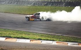 Обои гонка, дым, дрифт, drift, mazda, rx7, race