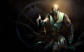 Обои топор, боец, Mortal Kombat, fan art, chameleon
