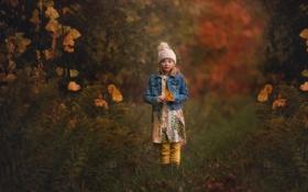 Обои осень, Lorna Oxenham, шапочка, девочка