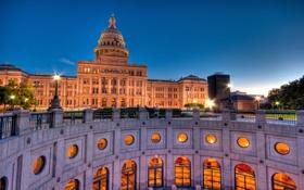 Картинка Остин, Austin, usa, Texas, Capitol, Техас