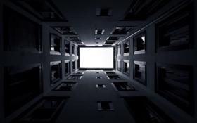 Обои дом, фото, обои, стены, здание, окна, чёрно-белое
