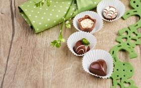 Обои шоколад, sweets, with love