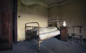 Обои кровать, интерьер, спальня