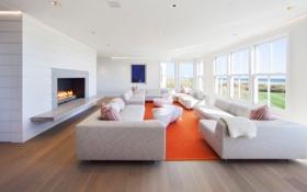 Обои дизайн, стиль, вилла, интерьер, гостиная, жилая комната