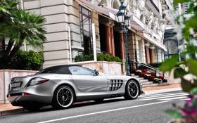 Картинка улица, SLR, mercedes, мерседес, Mercedes SLR 722S