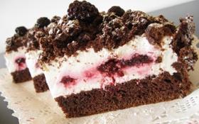 Обои ягоды, сладость, еда, шоколад, пирог, выпечка, джем