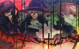 Картинка череп, рука, крест, демон, летучие мыши, halloween, колдун