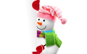 Картинка christmas, новый год, cute, snowman, new year, banner, рендеринг